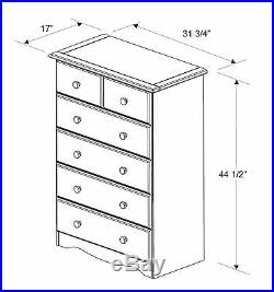 100% Solid Wood 4+2 or 6 Drawer Chest by Palace Imports, 3 Colors