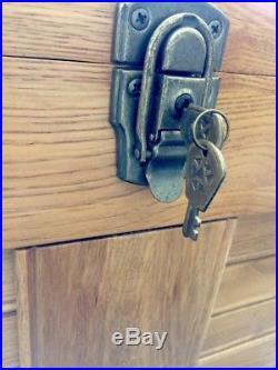 10 Drawer + Lid Storage Oak Wood Machinist Artist Tool Box Chest Journeyman