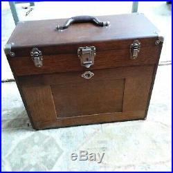 11 Drawer Gerstner Machinist Wood Tool Box Oak chest jewerly chest nice