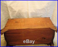 1800s Antique Pennsylvania Blanket, Hope, Dowry Chest w / hidden drawers