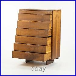 1993 Mira Nakashima George Nakashima Studio Tall Highboy Dresser 7 Drawer Chest