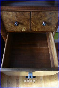 20s 30s Art Deco gentelmans chest drawers wooden dresser bakelite vanity armoire