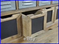 25 Drawer Industrial Storage Unit Wooden Cabinet Retro Cupboard Vintage Chest