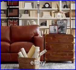 28 Bungalow 5 Style Campaign Restoration Chest Drawers Nightstand Wood & Gold