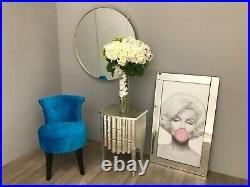 2 Drawer Bedside Chest Cabinet Silver Leaf Bedroom French Furniture Shabby Chic