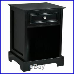 2 PCS Night Stand End Accent Table Drawer Chest Sofa Side Bedside Storage Black
