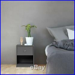 3 Piece Gray Drawer Dresser Chest Nightstand Set Home Living Bedroom Furniture