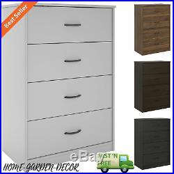 40 Tall 4-Drawer Chest Dresser Bedroom Storage Wood Home Furniture Organizer