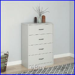 40'' Tall 4-Drawer Modern Dresser Chest Bedroom Storage Wood Furniture 6 Colors