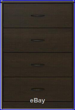 40 Tall 4-Drawer Modern Dresser Chest Bedroom Storage Wood Furniture 6 Finishes