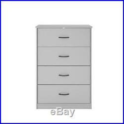 40 Tall 4 Drawer Modern Dresser Chest Bedroom Storage Wood Furniture Dove Gray