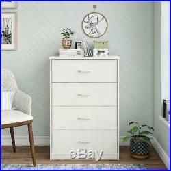 40 Tall 4 Drawer Modern Dresser Chest Bedroom Storage Wood Furniture Home White