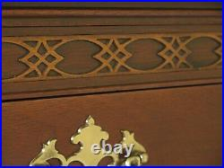 47718EC BAKER Chippendale Mahogany High Chest Of Drawers