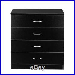 4 Chest of Drawers Bedroom Dressers Storage Organizer Furniture Black White New