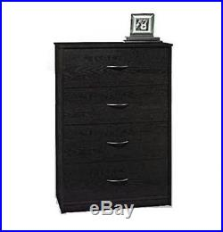 4 DRAWER DRESSER CHEST Bedroom Furniture Storage Wood Drawers Modern Black NEW