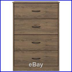 4 DRAWER DRESSER CHEST Bedroom Storage Wood Furniture Modern Clothes Cabinet