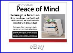4 DRAWER DRESSER CHEST Of Drawers Bedroom Clothes Storage Cabinet WALNUT BROWN