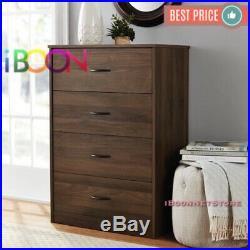 4 DRAWER DRESSER CHEST Of Drawers Furniture Clothes Cabinet Storage Wood Modern