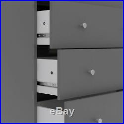 4 Drawer Chest Dresser Storage Organizer Bedroom Furniture Grey NEW Wooden