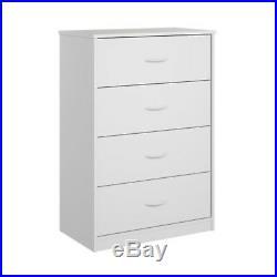 4 Drawer Dresser Clothes Organizer Chest Bedroom Storage Cabinet Wood Furniture