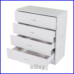 4 Drawers Modern Dresser Chest of Drawers Contemporary Furniture Wooden Storage
