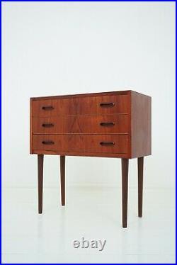 50er 60er Teak Kommode Danish Design Chest of Drawer XS Sideboard 50s 60s
