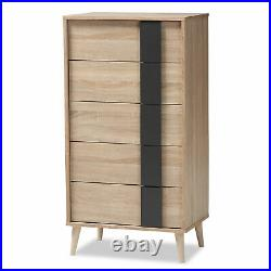 5-Drawer Cabinet Chest Dresser Storage Clothes Organizer Wood Modern Furniture