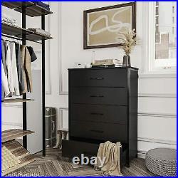 5 Drawer Chest Dresser Clothes Storage Organizer Bedroom Furniture Cabinet Black