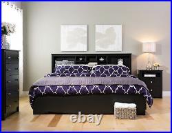 5 Drawer Chest Dresser Storage Organizer Black Wood Finish Bedroom Furniture New