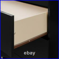 5-Drawer Dresser, Black Contemporary Chest Set of 5 drawers perfect for clothes