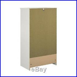 5-Drawer Dresser Chest Clothes Storage Modern Bedroom Cabinet Wood White
