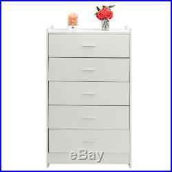 5 Drawer Dresser Modern Set Organizer Bedroom Clothes Furniture Finishes Chest