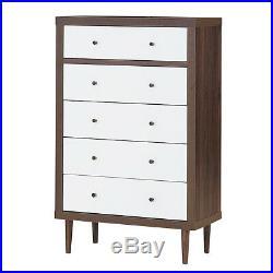 5 Drawer Dresser Wood Chest of Drawers Storage Freestanding Cabinet Organizer