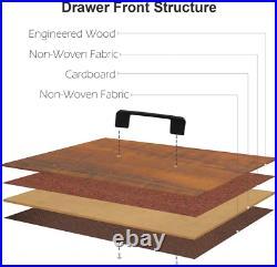 5 Drawer Hallway Drawer Dresser Fabric Storage Chest Clothes Organizer brown