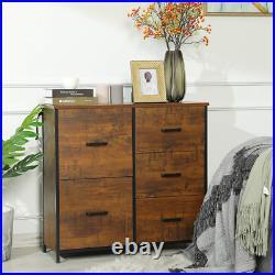 5 Drawer Hallway Drawer Dresser Storage Chest Organizer Large Storage Cabinet US