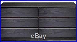 6 DRAWER DRESSER CHEST Wood Storage Organizer Unit Black Bedroom Furnitures New
