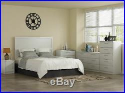 6 Drawer Chest Dresser Storage Organizer Wood White Finish Bedroom Furniture New