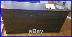 6 Drawer Dresser Bedroom Furniture Storage Wood Double Chest Drawers Espresso