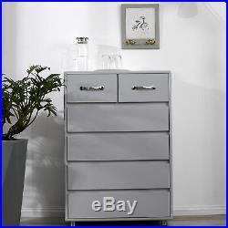 6-Drawer Dresser Chest Clothes Storage Modern Bedroom Cabinet Wood
