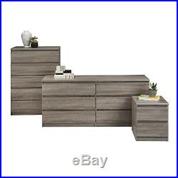 6 Drawer Dresser Double Chest Clothes Wood Storage Bedroom Furniture Truffle