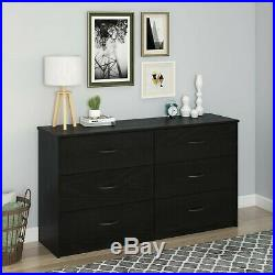 6 Drawer Dresser Modern Set Organizer Bedroom Clothes Furniture Finishes Chest