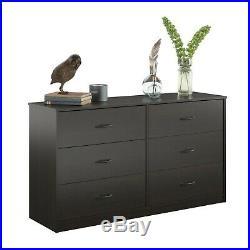 6 Drawer Dresser Modern Set Organizer Clothes Furniture Finishes Chest Espresso