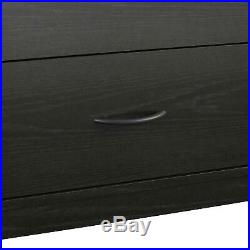 6-Drawer Dresser Organizer Bedroom Clothes Furniture Chest Black Oak Finish