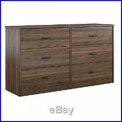 6-Drawer Dresser Organizer Bedroom Clothes Furniture Chest Walnut Oak Espresso