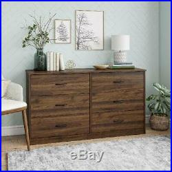 6-Drawer Dresser Organizer Bedroom Clothes Furniture Chest White, Black, Brown