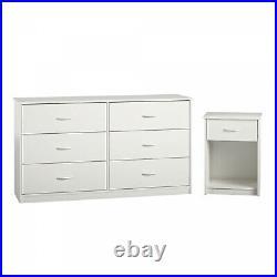 6-Drawer Dresser Organizer Bedroom Clothes Furniture Chest White Finish
