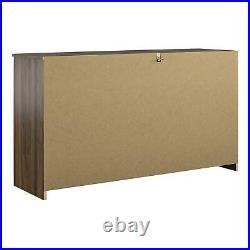 6 Drawer Dresser Organizer Bedroom Clothes Furniture Chest of Drawers Walnut