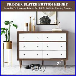 6 Drawer Dresser Wood Chest of Drawers Home Freestanding Cabinet Organizer