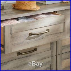 6 Drawer Dresser Wood Modern Farmhouse Double Storage Chest Bedroom Furniture