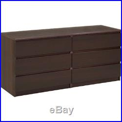 6 Drawer Large Bedroom Dresser Storage Organize Modern Chest Of Drawers Double